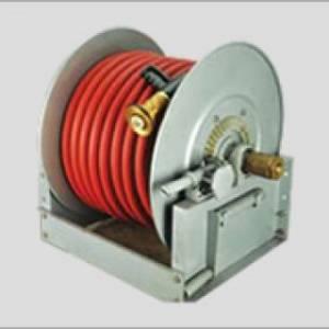 Continuous-Flow Hose Reel Gear-Crank Rewind